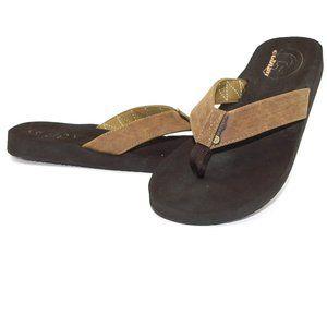 NWOT Cobian Floater 2 Mocha Thong Flip Flop Sandal